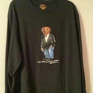 Men's Polo Bear long sleeved tee